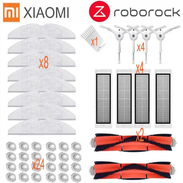 Main brush HEPA filter side brush mop cloth Suitable for xiaomi vacuum 2 roborock s50 accessories xiaomi mi robot replacement