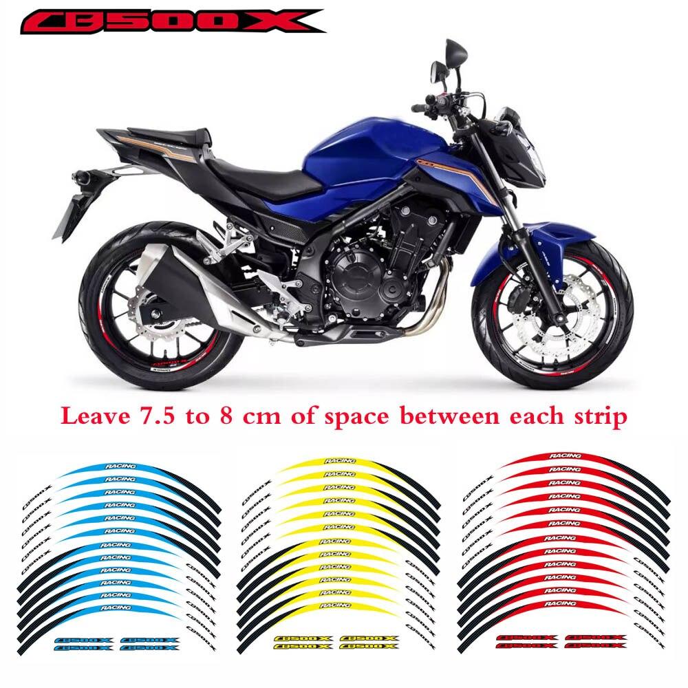For honda cb500x 17 motorcycle custom rim stripes wheel decal tape sticker