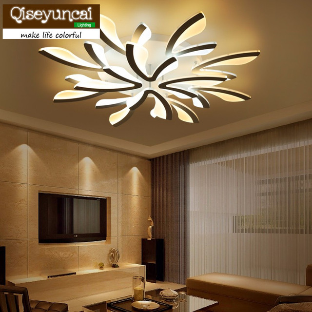 living room lighting guide. Qiseyuncai Flush Mount Modern Light For Living Room Acrylic Bicolor Guide Plate Chandelier Avize Home Lighting L