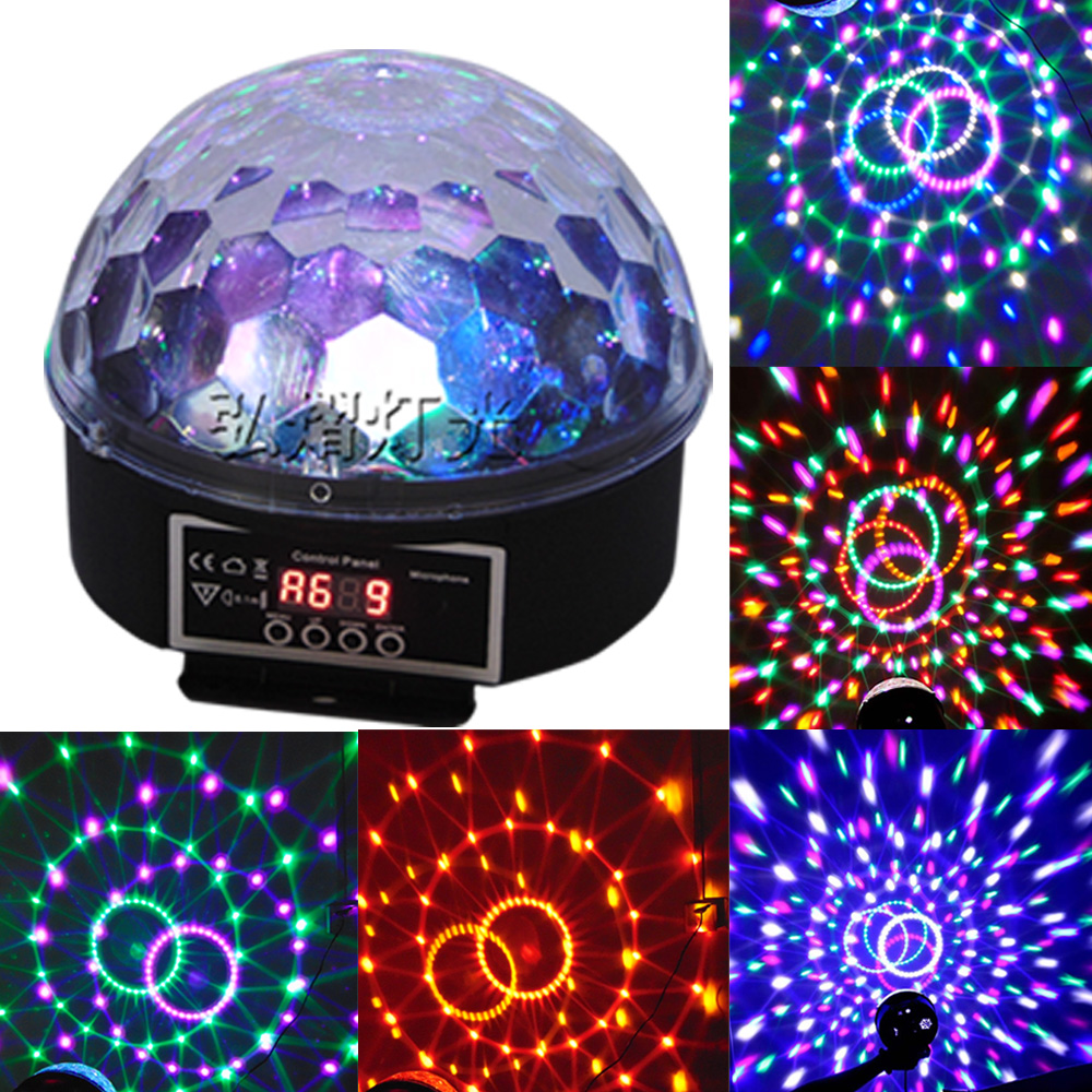 Music Crystal Magic RGB LED Stage Lights For Party Ball Disco light Nightclub with Remote