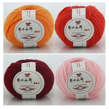 500g/Lot 10 Ball Organic Baby Merino Wool Roving Yarns Skein Hand Knitting Crochet Yarn China Natural Kint Woolen Mercerie Laine