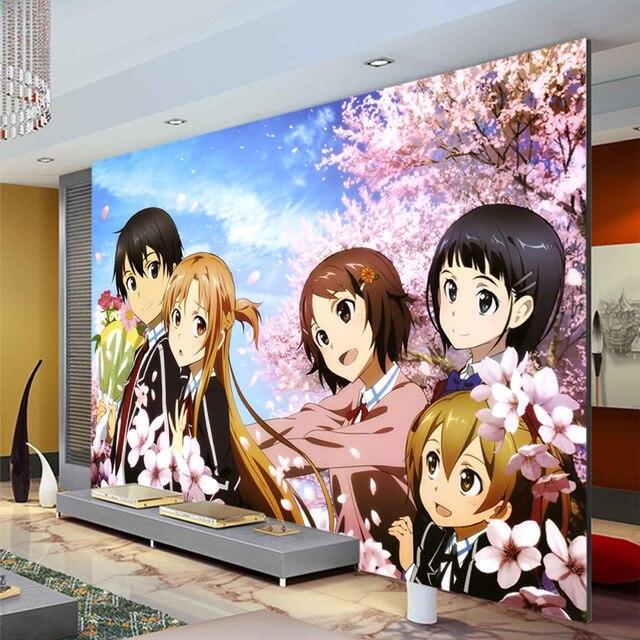 Épée Art En Ligne Photo Papier Peint Mur Mural Anime Papier Peint 3D De  Murs Chambre