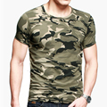 Camouflage t-Shirt Cotton Tops Tees Tshirt Camo Mens Clothing Quick Dry Workout Jog Army Shirt New European Apparels Plus Size