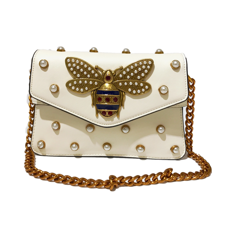 2018 Famous Brand Bee Women Handbags luxury handbags women bags designer High Quality rivet Shoulder Bag Lady Messenger bag sac tcttt luxury handbags women bags designer fashion women s leather shoulder bag high quality rivet brand crossbody messenger bag