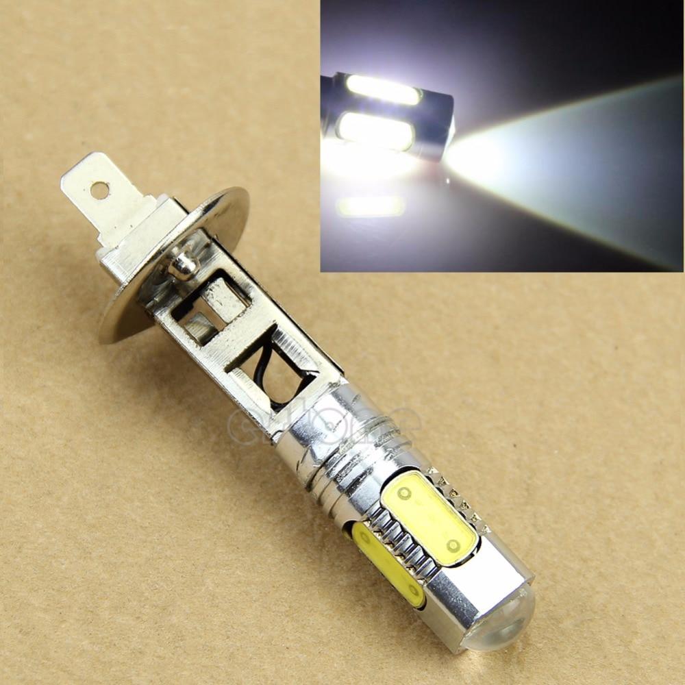 Wholesale!20pcs White H1 LED Car Auto DRL COB Fog Daytime Running Headlight Lamp Bulb 12V driving high power