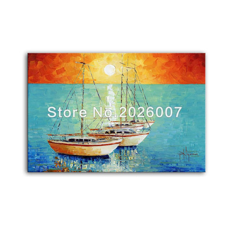 150Boats - Limited Edition - Abstract Seascape art on canvas Home Decor Paula Nizamas sea boats sky