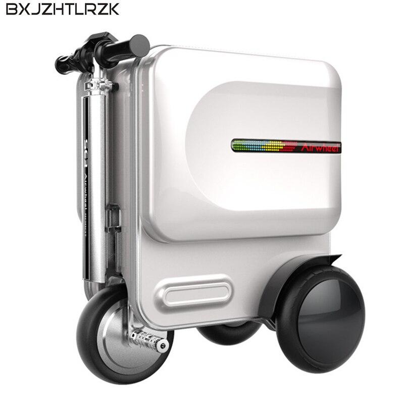 Boîtier de chargement intelligent électrique USB boîtier de chariot intelligent valise Bluetooth multifonction (poids de roulement 90 KG)