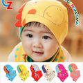 Spring Autumn Lovely Cartoon Infants Triangle Cotton Beanie Hat + Triangle Scarf Hot