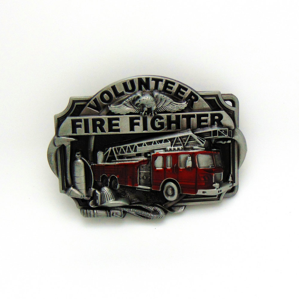 The Western Classical Belt Buckle Buckle Fire Fire Men VOLUNTEER FIRE FIGHTER