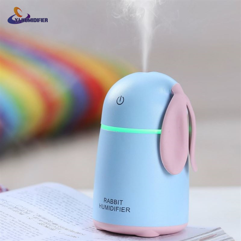 YJ HUMIDIFIER Rabbit humidifier Usb Mini Air Humidifier Aroma Essential Oil Diffuser LED Lights Home Office Mist Maker usb mini humidifier air humidifier aroma diffuser essential oil diffuser humidifier atomizer mist maker home carry