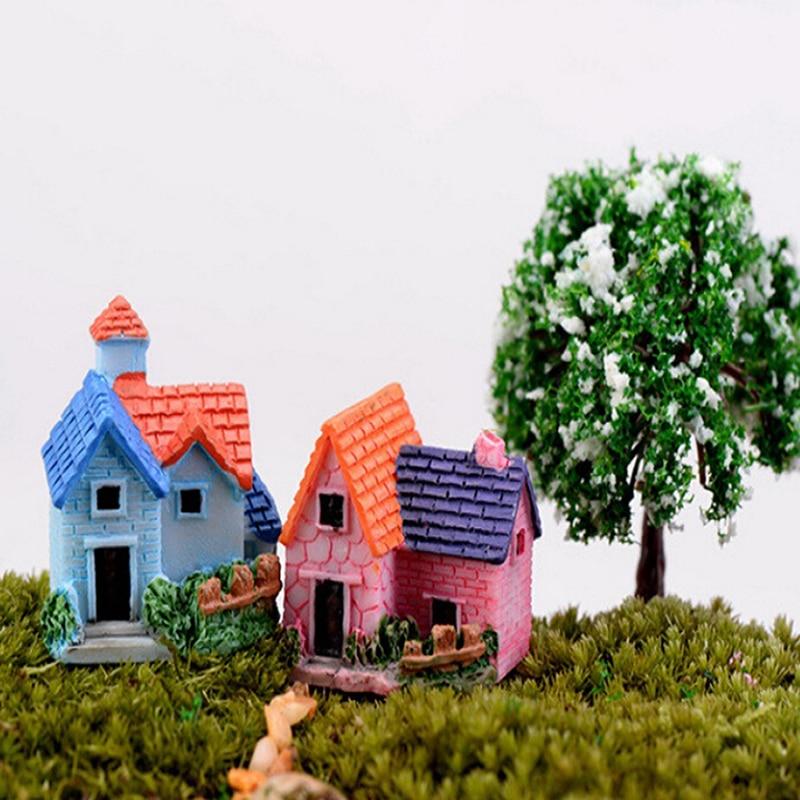 aliexpresscom buy mini castle fairy garden miniatures castles terrarium figurines garden decoration miniature house villa woodland fairy figurines from - Fairy Garden Miniatures