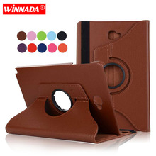 For Samsung Galaxy Tab A 6 A6 10.1 P580 P585 S-Pen version case lichee grain 360 degree rotate Full Body cover for SM-P580 P585