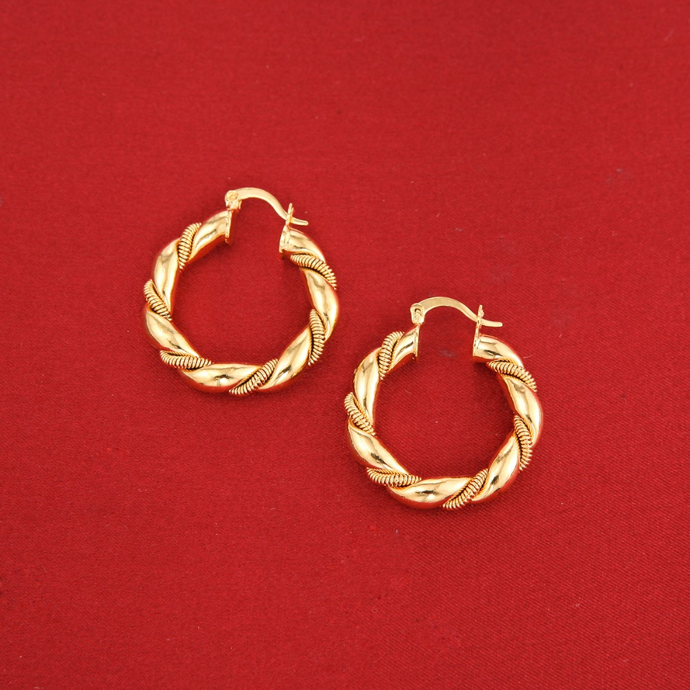 bali details earrings hoop gold