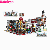 Bainily 6 In 1 Mini Street View DIT Model Building Blocks Kit City Mini Creators