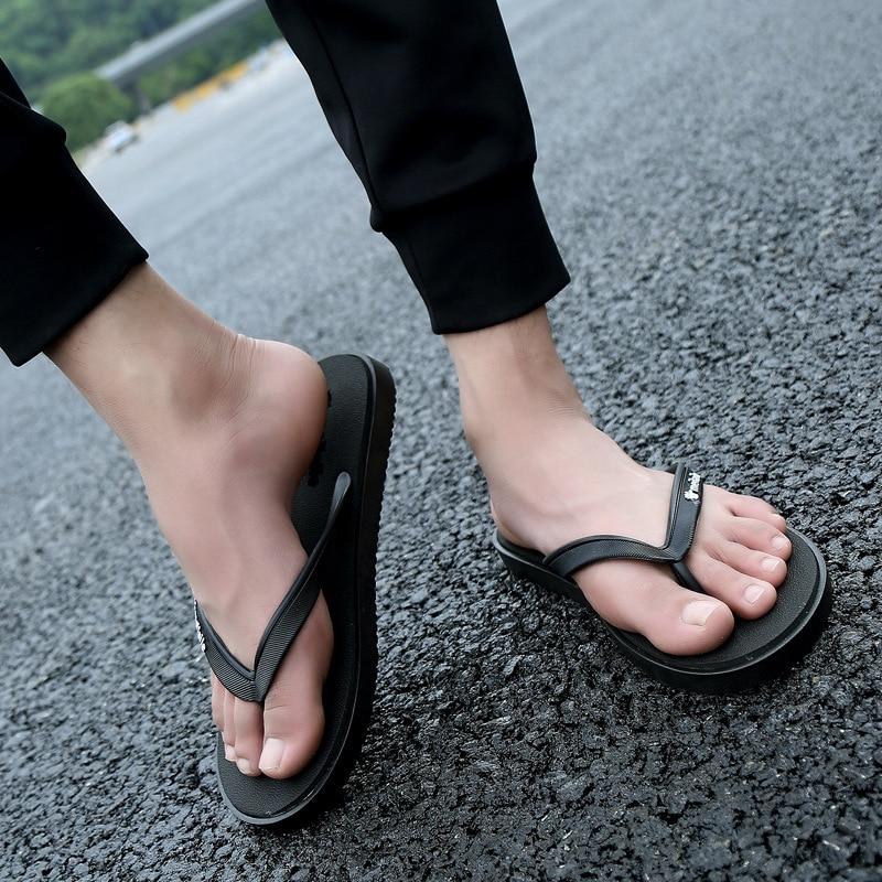 Padegao Sommer Casual Mode Herren Hausschuhe Outdoor Rom Retro Concise Flip-flops Classics Neutral Mischfarben Strand Schuhe Flip-flops
