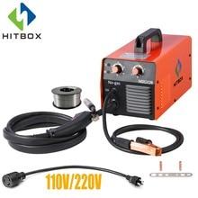 HITBOX Mig сварочный аппарат 220 В без газовой стали сварочный аппарат порошковая проволока MIG1200 инверторный Сварочный аппарат для домашнего использования инструмент Mig сварка