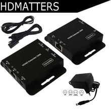 HDmatters HDMI удлинитель по cat5e/6 кабеля до 50 м для PS4 HDTV портативных ПК с адаптером питания