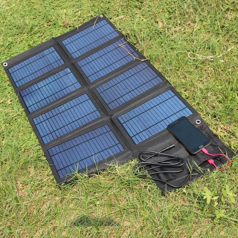 BUHESHUI 50W Solar Panel Charger+ Dual USB5V&18V DC Output For 12V Battery Charger Solar Mobile Charger With 3M Clips цена