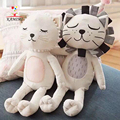 KAMIMI 2017 Newborn Baby Sleep Dolls Cats Lion Patterns Plush Toys Cute Baby Sleeping Appease Animal Doll I010