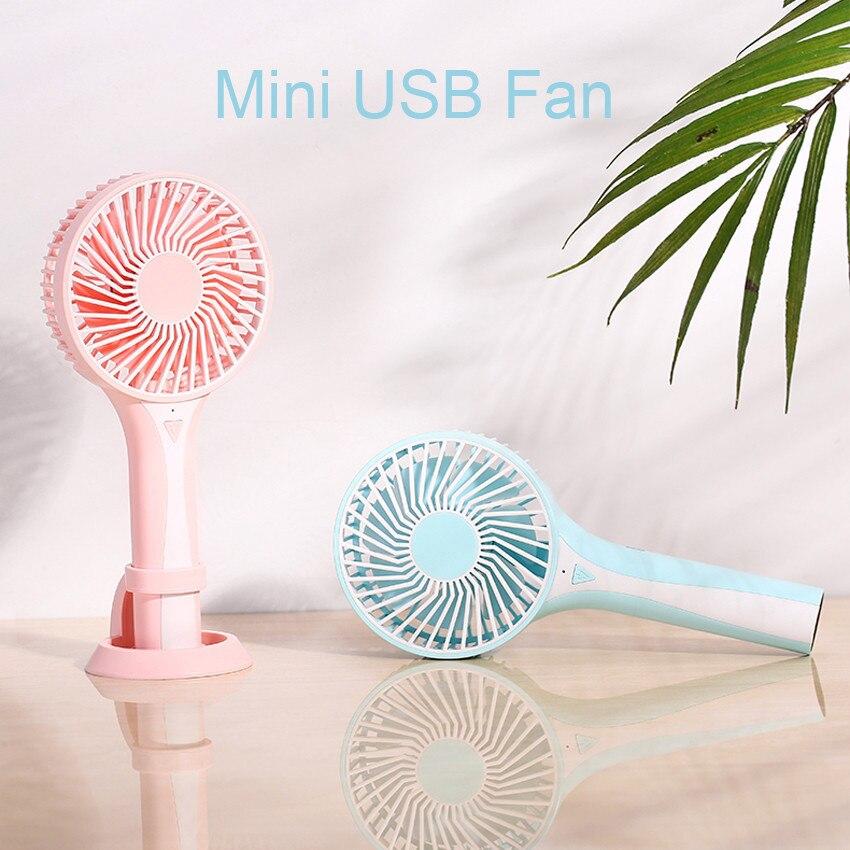 ASKMEER Portable Mini USB Fan Handheld Rechargeable Air Cooler Conditioning Desktop Cooling