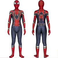 Spiderman Costume Adult Kids Superhero Far From Home Cosplay Costume Tom Holland Iron Spider Man Suit Disfraz Wholesale D6501AD