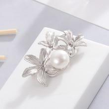 Hongye Великолепная Хрустальная брошь с натуральным пресноводным жемчугом для свадьбы 20 лет, женские антисеребряные булавки, винтажное ювелирное изделие Artdeco