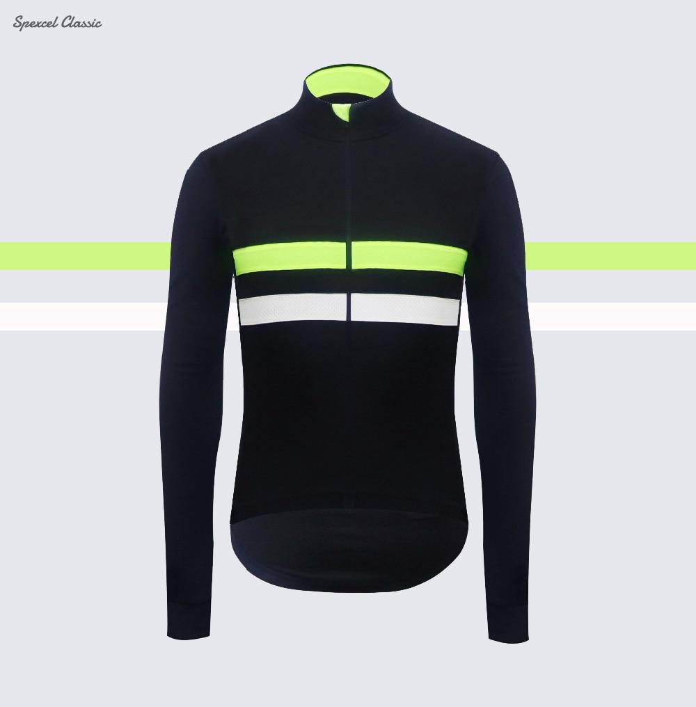 2018 NEUE Kommen Klassische Winter Thermische fleece Radfahren Jersey langarm mit Reflektierende streifen fahrrad shirt
