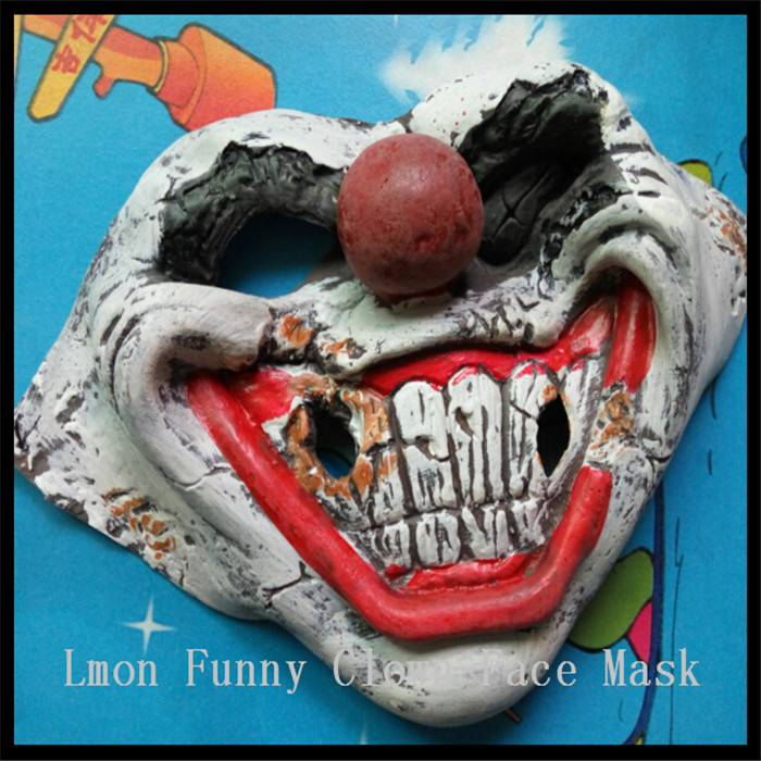 2016 New performances Fun mask halloween soft latex funny smiling clown show mask party Cosplay In stock Free shipping image