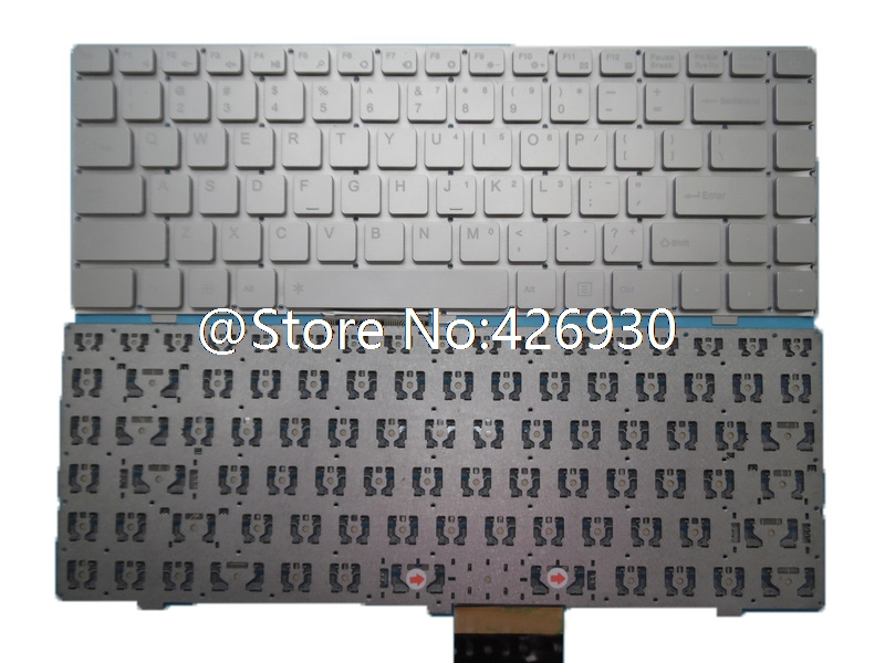 Laptop Keyboard for LincPlus P2 14.1 English US Silver Without Frame New and Original