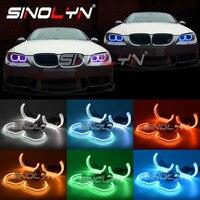 RGB Angel Eyes For BMW E60 F30 E90 E92 F10 F11 F31 E87 M4 Car Lights Accessories Retrofit Mulit Color DTM Style Acrylic DRL Halo