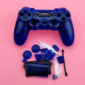 Image 4 - YuXi Sony Playstation 4 Için PS4 Dualshock 4 Eski Sürüm Gamepad Denetleyici Şeffaf Temizle Ön Arka Konut Shell Kılıf Kapak