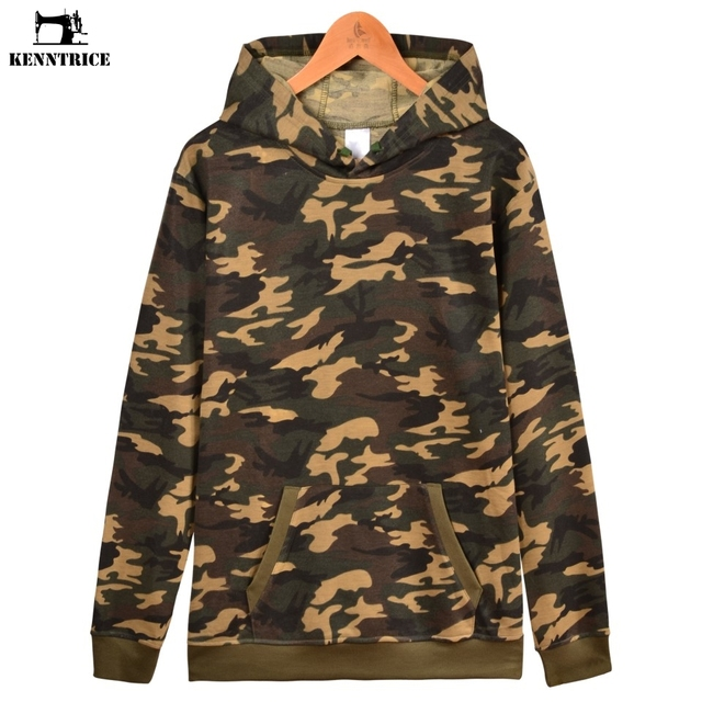 KENNTRICE Camouflage Hoodies Solid Pullover Men Ladies Couple Friends Hoodie  Black White Blue Gray Blank Camo Hooded Sweatshirt 0b40e69e6d