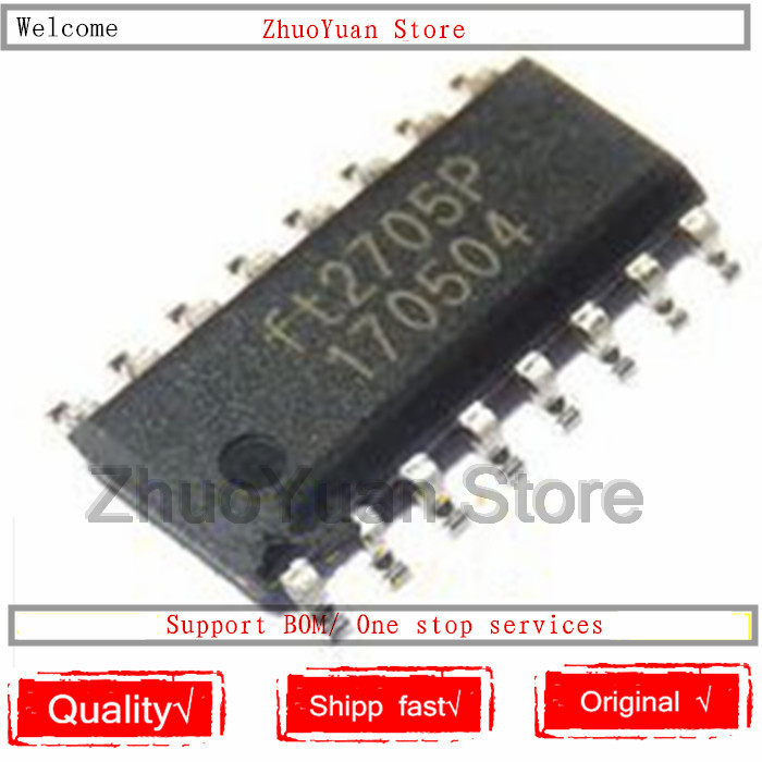 100PCS/lot 100% New Original FT2705P FT2705 SOP-16 IC Chip New Original In Stock