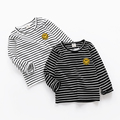 In the big boy boy long sleeved striped T-shirt bottoming shirt 2017 new spring coat Baby Kids Children.