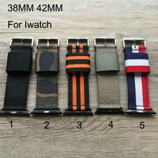 Специальная конструкция, Холст спортивная Apple , пояса, Нейлон 38 мм 42 мм часы полоса, Подходит для iwatch, Бесплатная доставка