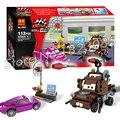 112 unids 10007 bela pixar cars 2 zona de mater building blocks juguetes modelo gitfs niños juguete ladrillo compatible con lego