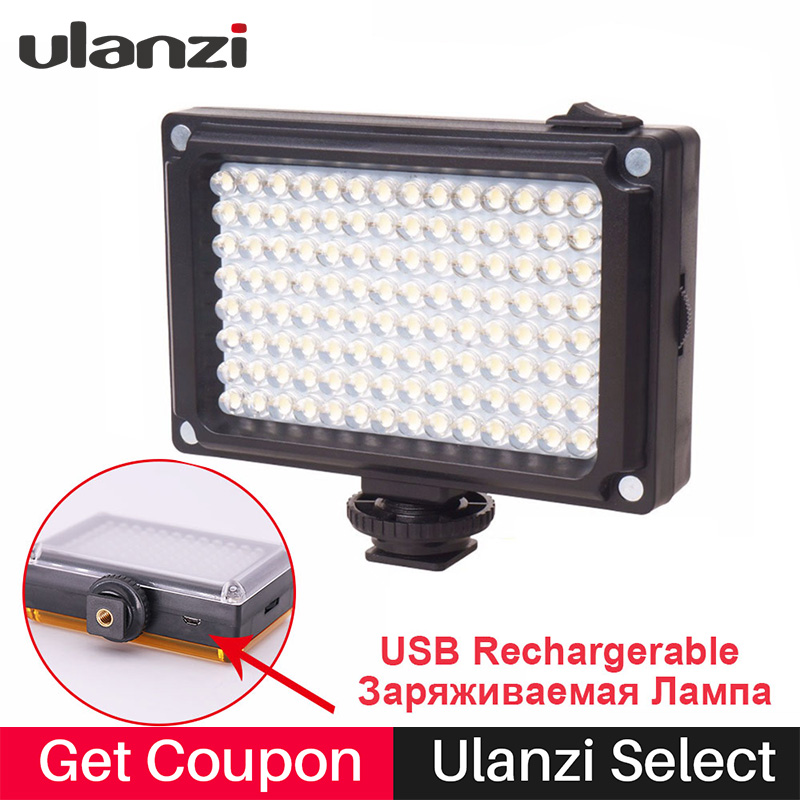 112 LED Video Light Photo Напоўніце Фільтры асвятлення Акумулятар для Nikon Canon DSLR святло на камеру для Youtube вядзе відэаблог Жывы паток