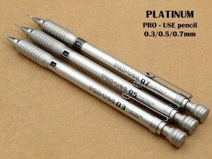 Image 2 - Japão platina MSD 1000 lápis mecânico 0.3/0.5/0.7mm lápis mecânico profissional gráficos lápis automático