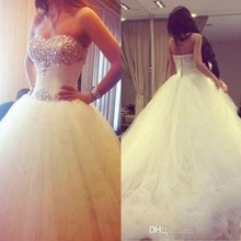 srui sker White Wedding Dresses Ball Gowns Bridal Gowns