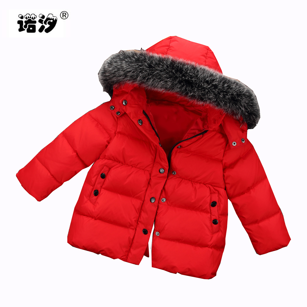 1 2 3-6 years kids winter jacket baby girls Fox fur hooded white duck down thicken coat children winter jacket boys outwear coat kids winter down long jacket boys girls 90% white duck down coat children fox raccoon fur hooded baby thick warm clothes suit