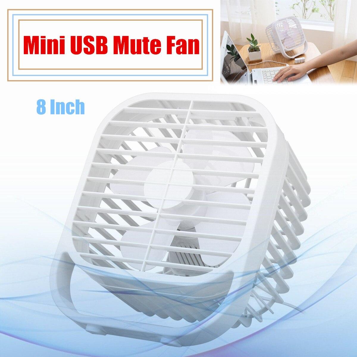 где купить 8 Inch Mini USB Ultra Mute Fan Four-Leaf Fan Portable Powerful Cooling Desk Fan 5V 3W Desktop Office дешево