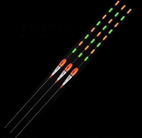 65 cm de comprimento led night fishing float para aguas profundas ou lento em movimento
