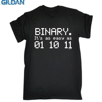 GILDAN BINARY EASY AS 01 10 11 T SHIRT Nerd Geek Computing Science Funny Birthday Gift