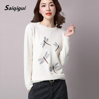 6 Color New 2016 O Neck Winter Autumn Women Sweater Long Sleeve Pullovers Knitting Casual Sweaters