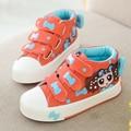 Yeeshow 2017 primavera new kids shoes, respirável lona meninas shoes, chaussure enfant, wearable alta tênis para a menina crianças shoes