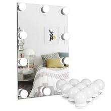 купить Makeup Mirror Vanity LED Light Bulbs Kit, USB Charging Port Cosmetic Lighted Make up Mirrors Bulb Adjustable Brightness lights дешево