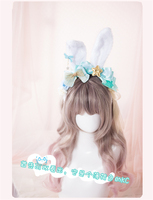 2017 hair accessories LOLITA bunny ears headband hairdress lovely hairpiece cosplay accessory Free Shipping