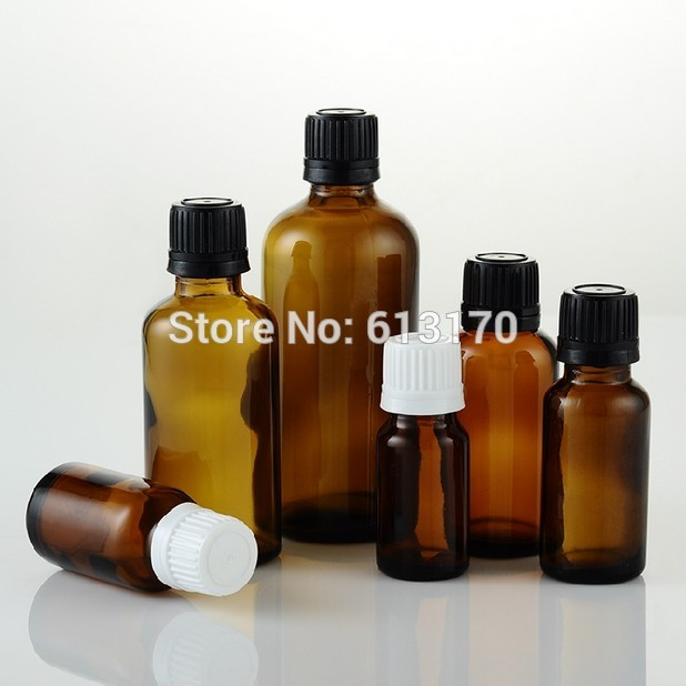 5ml,10ml,15ml,20ml,30ml,50ml,100ml Empty Glass Bottles Amber Vials With White,Black Tamperproof Cap Essential Oil Bottles 100 pcs lot of small glass vials with cork tops 1 ml tiny bottles little empty jars