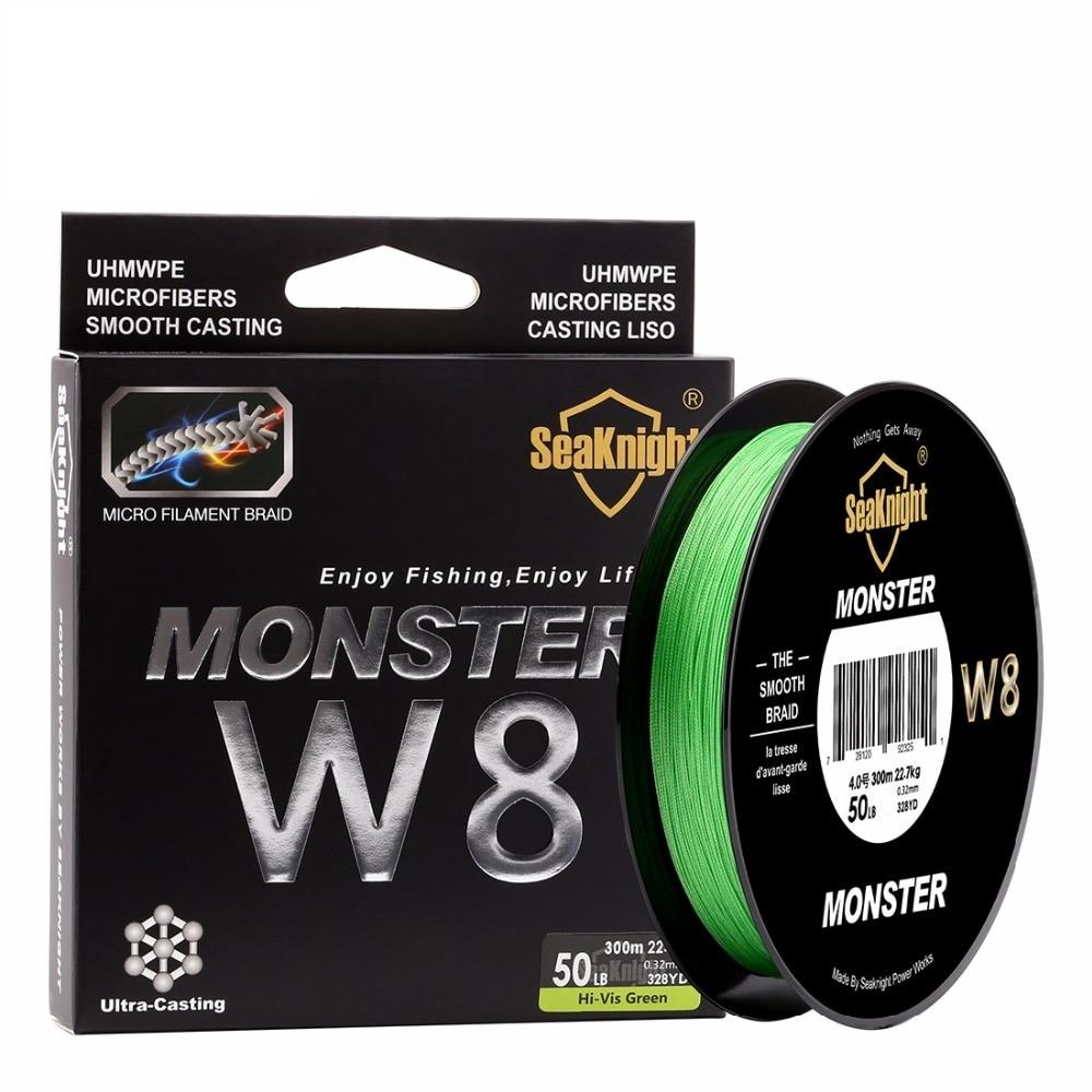 цена на Super Monster W8 300M 8 Strands Fishing Line Multifilament Fishing PE Line 8 Weaves Strong Braided Wire 20LB 40LB 80LB 100LB