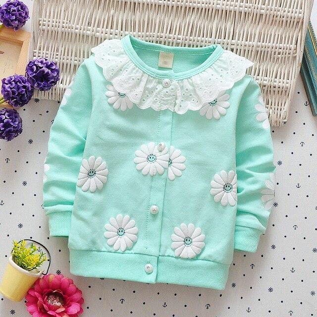 Ребенок Toddle Дети Обувь для девочек хлопок Демисезонный кардиган Цветочный принт куртка пальто для 60-95 см высота детская куртка G017